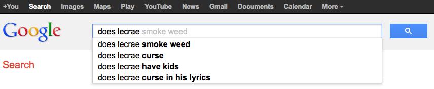 Does Lecrae... Google search