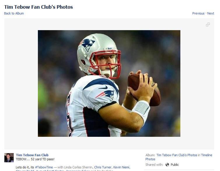 Tim Tebow, New England Patriots:
