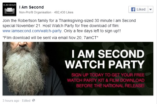"""""""Duck Dynasty"""" I Am Second online special."""