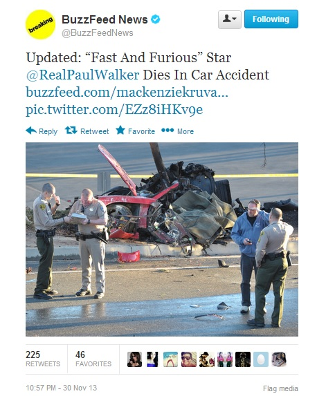 """The deadly car crash that killed """"Fast and Furious"""" star Paul Walker."""