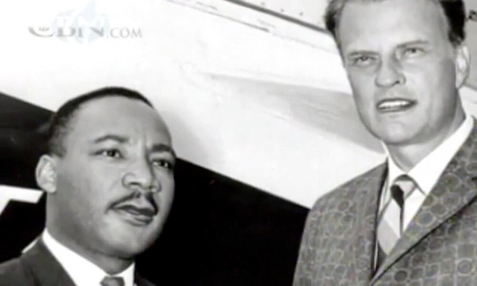 Martin Luther King, Jr. and the Rev. Billy Graham.